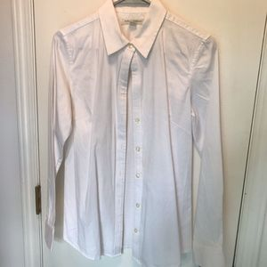 Banana Republic Classic Fitted White Button Down